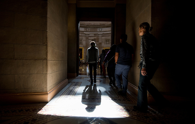 UNITED STATES - NOVEMBER 2: Tourists enter the Capitol Rotunda in the Capitol on Thursday, Nov. 2, 2017. (Photo By Bill Clark/CQ Roll Call)