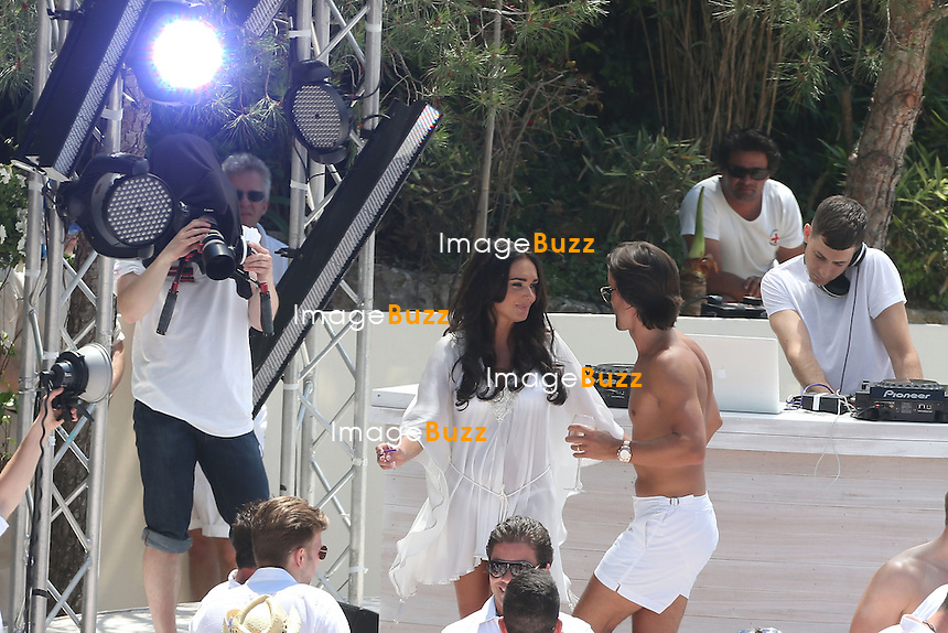 "TAMARA ECCLESTONE & JAY RUTLAND WEDDING IN FRANCE - June 12, 2013-Tamara Ecclestone and Jay Rutland Wedding love story on the beach. Tamara Ecclestone and her husband Jay Rutland are celebrating after their wedding on the beach of "" fair "" in Saint Jean Cap Ferrat. with friends with Nicolas Roberts and Lizzie Cundy."