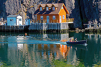 Small fishing village in Canada (Quidi Vidi, St. John's)