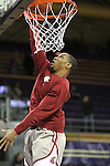 Reggie Moore, Washington State freshman sensation, warms up prior to the Cougars Pac-10 conference match-up with arch-rival Washington in Seattle - Washington State vs. Washington at Bank of America Arena in Seattle, Washington, 1-30-2010