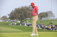 25th January 2020, Torrey Pines, La Jolla, San Diego, CA USA;  Tony Finau lines up his put during round 3 of the Farmers Insurance Open at Torrey Pines Golf Club on January 25, 2020