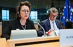 BRUSSELS - BELGIUM - 23 February 2016 -- Exchange of views with Agencies ETF, OSHA, EUROFOUND, CEDEFOP and the Committee on Employment and Social Affairs of the European Parliament. -- Madlen Serban, Director of the European Training Foundation (ETF) and Juan Menéndez-Valdés, Director of the European<br /> Foundation for the Improvement of Living and Working Conditions (EUROFOUND). -- PHOTO: Juha ROININEN / EUP-IMAGES