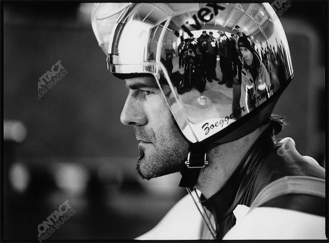 Armin Zoeggeler at the Luge start, Winter Olympics, Salt Lake City, UT, USA, February 2002