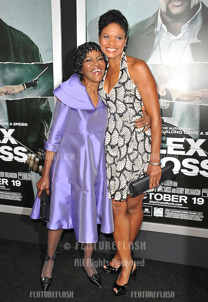 "Cicely Tyson & Kimberly Elise (right) at the Los Angeles premiere of ""Alex Cross"" at the Cinerama Dome, Hollywood..October 15, 2012  Los Angeles, CA.Picture: Paul Smith / Featureflash"