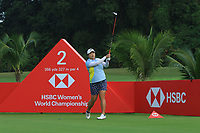 Shanshan Feng (CHN) in action on the 2nd during Round 2 of the HSBC Womens Champions 2018 at Sentosa Golf Club on the Friday 2nd March 2018.<br /> Picture:  Thos Caffrey / www.golffile.ie<br /> <br /> All photo usage must carry mandatory copyright credit (&copy; Golffile | Thos Caffrey)