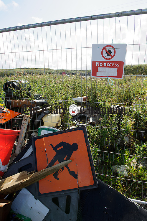 A general view of the fencing and signage erected at a Clare County Council site outside Kilkee. Photograph by John Kelly.