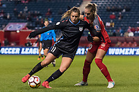 Bridgeview, IL - Saturday March 31, 2018: Sofia Huerta, Celeste Boureille during a regular season National Women's Soccer League (NWSL) match between the Chicago Red Stars and the Portland Thorns FC at Toyota Park.