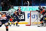 Stockholm 2014-03-27 Ishockey Kvalserien Djurg&aring;rdens IF - R&ouml;gle BK :  <br /> Djurg&aring;rdens Emil Lundberg jublar efter att ha gjort 1-0<br /> (Foto: Kenta J&ouml;nsson) Nyckelord:  DIF Djurg&aring;rden R&ouml;gle RBK Hovet jubel gl&auml;dje lycka glad happy
