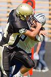Palos Verdes, CA 09/09/11 - Nick Kudrave (Peninsula #14) in action during the North Torrance-Peninsula Panthers varsity football game.