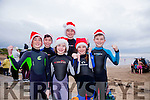 At the Connie Harnett Memorial Swim in Ballybunion on New Year's Day were Colm McHenry, Cormack Murphy, Maeve Kelly, Lorcan Murphy, Darcy Murphy and Conor Kelly