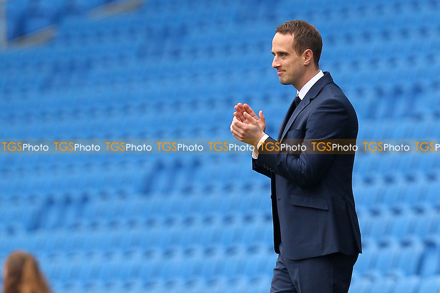 England Coach Mark Sampson applauds his team - England Women vs Montenegro Women - FIFA Womens World Cup 2015 Qualifying Group 6 Football at The Amex, Falmer Stadium, Brighton & Hove Albion FC - 05/04/14 - MANDATORY CREDIT: Gavin Ellis/TGSPHOTO - Self billing applies where appropriate - 0845 094 6026 - contact@tgsphoto.co.uk - NO UNPAID USE