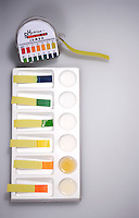 INDICATOR STRIPS TEST pH  OF COMMON SUBSTANCES<br />