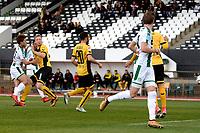 LA LINEA - Voetbal, FC Groningen - Dynamo Dresden, Trainingskamp FC Groningen, seizoen 2017-2018, 13-01-2018,  uithaal van FC Groningen speler Ritsu Doan gaat naast
