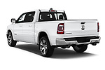 Car pictures of rear three quarter view of a 2019 Ram 1500 Crew Cab Laramie Short Box 4x2 4 Door Pick Up angular rear