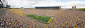 A panoramic view of the Rededication of Michigan Stadium as the University of Michigan defeated UConn 30-10 in front of a record attendance of 113,090.