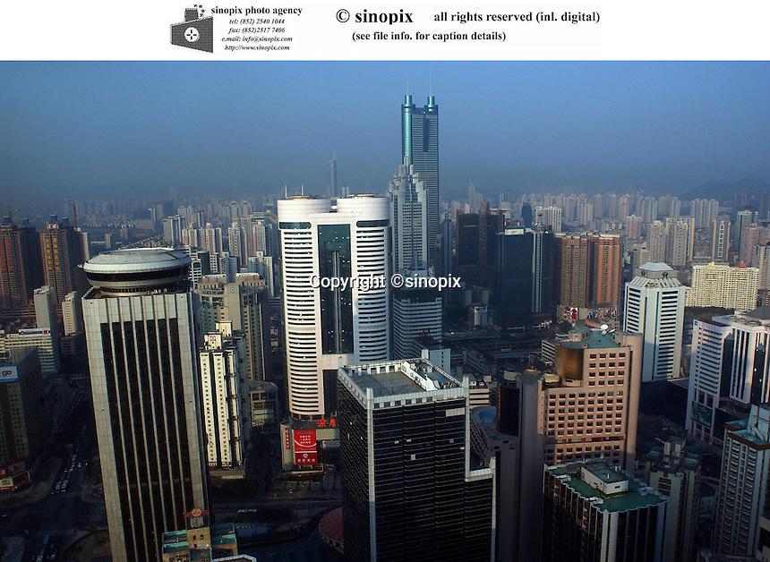 Cityscape of Shenzhen, China.<br />30-NOV-04