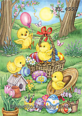 Interlitho-Dani, EASTER, OSTERN, PASCUA, paintings+++++,chicks, basket,KL4556,#e#, EVERYDAY