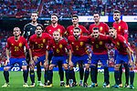 Spain squad poses for photos during their 2018 FIFA World Cup Russia Final Qualification Round 1 Group G match between Spain and Italy on 02 September 2017, at Santiago Bernabeu Stadium, in Madrid, Spain. Photo by Diego Gonzalez / Power Sport Images