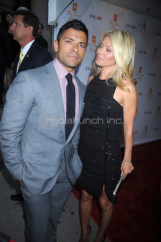Mark Consuelos and Kelly Ripa at Trevor Live: An Evening Benefiting the Trevor Project at Capitale on June 27, 2011 in New York City. Credit: Dennis Van Tine/MediaPunch