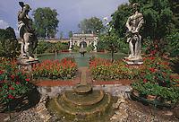 Italien, Toskana, Lucca, Garten des Oalazzo Controni-Pfanner