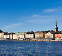 Waterfront building of Gamla Stan - old town, Stockholm, Sweden