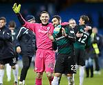 Raith keeper David McGurn celebrates with team mate Rory McKeown