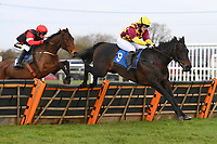 Favori De Sivola ridden by Lizzie Kelley clears the last in The Winner of The Racing TV Profits returned to Racing'National Hunt' Novices' Hurdle during Horse Racing at Wincanton Racecourse on 5th December 2019
