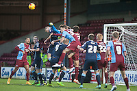 goalmouth melee<br />  - Scunthorpe United vs Crewe Alexandra - Sky Bet League One Football at Glanford Park, Scunthorpe, Lincolnshire - 13/12/14 - MANDATORY CREDIT: Mark Hodsman/TGSPHOTO - Self billing applies where appropriate - contact@tgsphoto.co.uk - NO UNPAID USE
