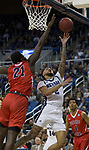 Jalen Harris (2) shoots during the Fresno State at Nevada basketball game in Reno, Nev., Saturday, Feb. 22, 2020.
