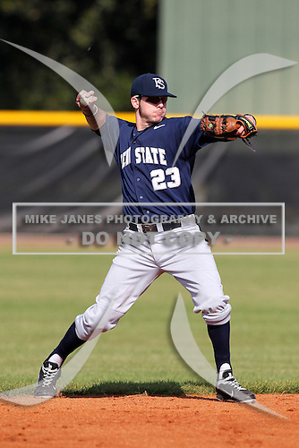 Michael Glantz #23 of the Penn State Nittany Lions during a game vs the Notre Dame Fighting Irish at the Big East-Big Ten Challenge at Walter Fuller Complex in St. Petersburg, Florida;  February 20, 2011.  Notre Dame defeated Penn State 8-5.  Photo By Mike Janes/Four Seam Images