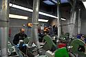 16/01/12 - LAGUIOLE - AVEYRON - FRANCE - Coutellerie Les Forges de Laguiole. Atelier de polissage - Photo Jerome CHABANNE pour Le Monde