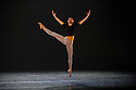 Woking, UK. 12.04.2016. Dance Consortium presents Nederlands Dans Theater 2, at The New Victoria Theatre, Woking, prior to commencing a national tour. this piece is : Solo, by Hans van Manen. The dancers are:  Gregory Lau, Benjamin Behrends, Paxton Ricketts. Picture shows: Gregory Lau. Photograph © Jane Hobson.