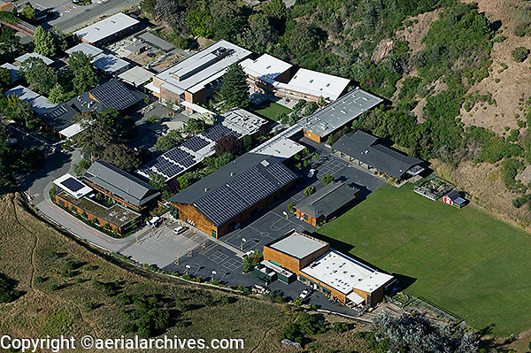 aerial photograph Marin Country Day School Marin County, California