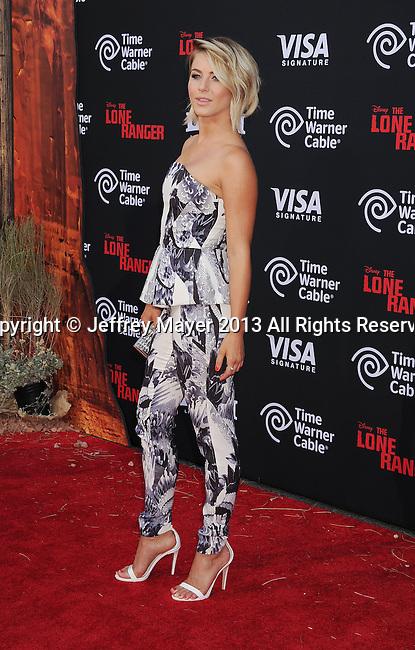 ANAHEIM, CA- JUNE 22: Actress/singer Julianne Hough arrives at 'The Lone Ranger' World Premiere at Disney's California Adventure on June 22, 2013 in Anaheim, California.