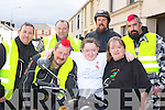 Rachel O'Connor Currow who needs an operation in Crumlin Childrens Hospital, Dublin with her parents James and Samantha and bikers l-r: Declan Canty, Liam Cooney, Mark Twomey and Con Clarke at the Motor bike run to help raise funds in Castleisland on Saturday....