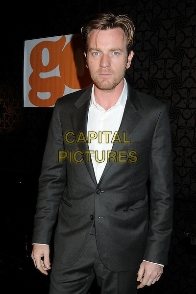 "EWAN McGREGOR.At Go Campaign's 2nd Annual ""Go Go Gala"" held at Social, Hollywood, California, 20th November 2009..half length suit grey gray black white shirt beard facial hair eye contact .CAP/ADM/BP.©Byron Purvis/Admedia/Capital Pictures"