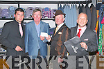 Best Dressed Man: The best dressed man at Listowel races sponsored by Pat Lyons, Moriarity's Menswear, Listowel on Thursday last was Sean ODonoghue, Killarney seen here presenting the winnings to David Fitzmaurice, Accountant  on behalf of Pieta House. L-R: Joshua Kelly, 3rd,Listowel,  David Fitzmaurice, Sean O'Donoghue & Dan Green,2nd, Moyvane.