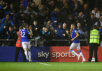 Everton's Richarlison, right, celebrates scoring his side's fourth goal with team-mate Lucas Digne<br /> <br /> Photographer Chris Vaughan/CameraSport<br /> <br /> The Carabao Cup Second Round - Lincoln City v Everton - Wednesday 28th August 2019 - Sincil Bank - Lincoln<br />  <br /> World Copyright © 2019 CameraSport. All rights reserved. 43 Linden Ave. Countesthorpe. Leicester. England. LE8 5PG - Tel: +44 (0) 116 277 4147 - admin@camerasport.com - www.camerasport.com