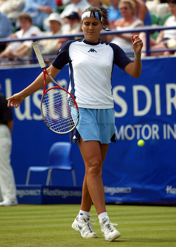 Photograph: Scott Heavey..Hastings Direct International Championships at Eastbourne. 21/06/2003..Conchita Martinez