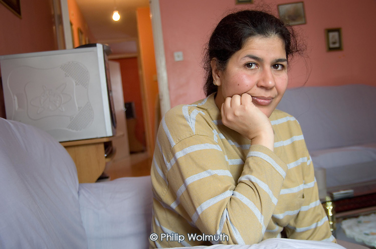 Qualified doctor Fatima Sekoum, a refugee from Algeria, has lived in the UK for 17 years,  but has been unable to find a job in the NHS.