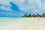 One Foot Islands in Aitutaki lagoon, Aitutaki, Cook Islands