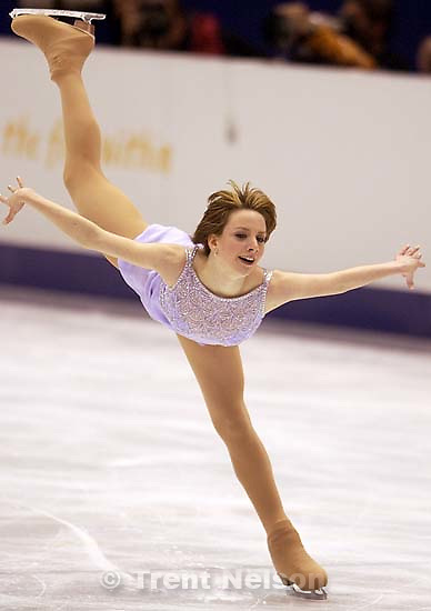 USA's Sarah Hughes. Ladies Free Skating competition, Thursday evening at the Salt Lake Ice Center, 2002 Olympic Winter Games.; 02.21.2002, 9:04:18 PM<br />