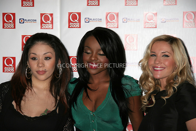 WWW.ACEPIXS.COM . . . . .  ... . . . . US SALES ONLY . . . . .....LONDON, OCTOBER 10, 2005....The Sugababes at the 2005 Q Awards.....Please byline: FAMOUS-ACE PICTURES-P ALLPORT... . . . .  ....Ace Pictures, Inc:  ..Craig Ashby (212) 243-8787..e-mail: picturedesk@acepixs.com..web: http://www.acepixs.com