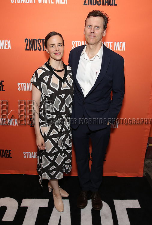 Maria Dizzia and Will Eno attends the Opening Night Performance of 'Straight White Men' at the Hayes Theatre on July 23, 2018 in New York City.