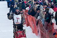 Musher # 6 Allen Moore at the Restart of the 2009 Iditarod in Willow Alaska