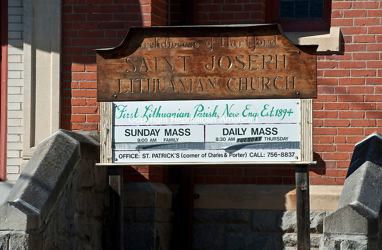 WATERBURY, CT-110314JS13-  St. Joseph's Parish Church on Congress Ave. in Waterbury, established in1894, is celebrating its 120th anniversary.  <br /> Jim Shannon Republican-American