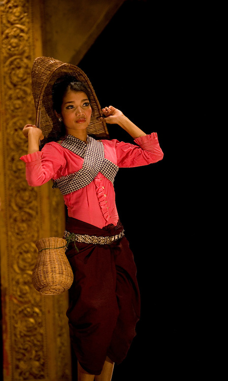 Traditional dancer at cultural performance in Siem Reap,Cambodia
