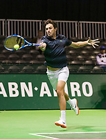 Rotterdam, The Netherlands, 14 Februari 2019, ABNAMRO World Tennis Tournament, Ahoy,  Edouard Roger-Vasselin (FRA), <br /> Photo: www.tennisimages.com/Henk Koster
