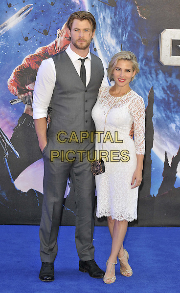 LONDON, ENGLAND - JULY 24: Chris Hemsworth &amp; Elsa Pataky attend the 'Guardians Of The Galaxy' UK film premiere, The Empire cinema, Leicester Square, on Thursday July 24, 2014 in London, England, UK. <br /> CAP/CAN<br /> &copy;Can Nguyen/Capital Pictures