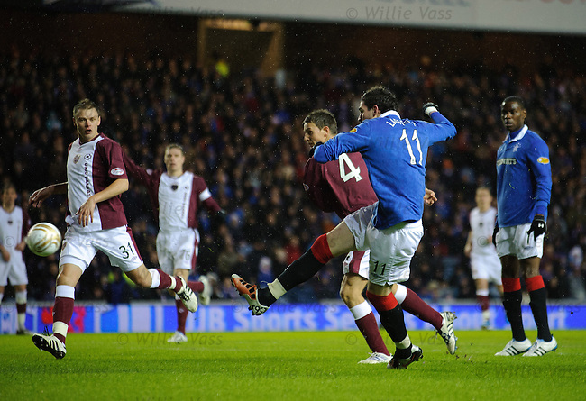 Kyle Lafferty opens the scoring for Rangers
